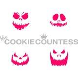 The Cookie Countess(クッキーカウンテス)ステンシル/かぼちゃ顔(4種)