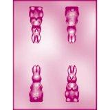 CK チョコレート型(立体3D) 正面ウサギ