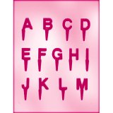 CK チョコレート型ピック/英字アルファベット(2枚セット)