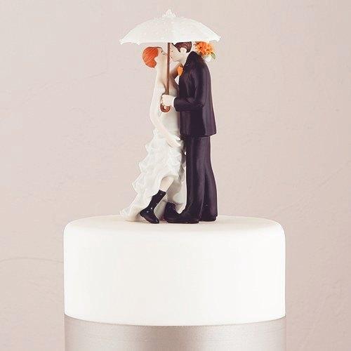 ウエディングケーキトッパー/相合い傘キッス