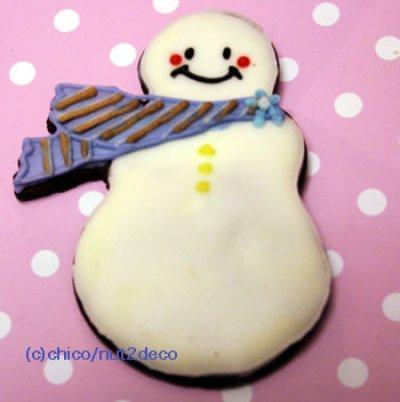 画像1: クッキー型/マフラーをしたスノーマン