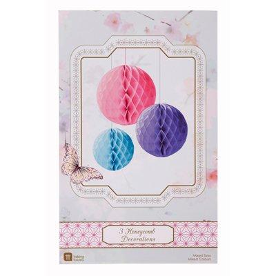 画像1: ハニカムボール/3色(ピンク・パープル・ブルー)