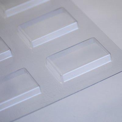 画像1: 〒 CK チョコレート型/シンプル長方形