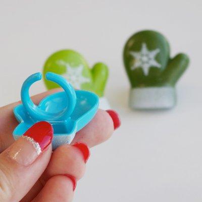 画像2: ケーキリング/ミトン(グリーン・黄緑・ブルー)6個入