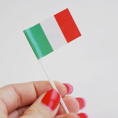 画像1: 〒 ケーキピック/イタリア国旗(6本入)