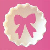 FMM カップケーキカッター/リボン×ぶるぶる丸型