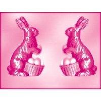 CK チョコレート型(立体3D) バスケットの上で座っているウサギ