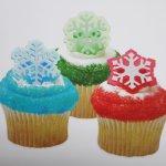 画像2: ケーキリング/雪の結晶・グリーン(2種6個入) (2)