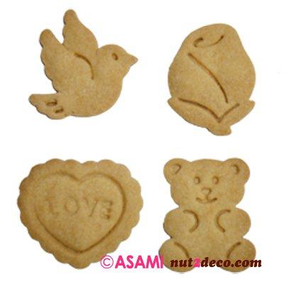 画像3: クッキー型スタンプ(バネ式)バレンタイン4pc