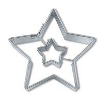 Stadter クッキー型/ダブルスター・星(ステンレス)