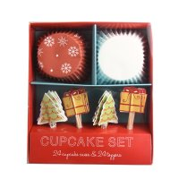 Table Fun(テーブルファン) ベーキングカップ&トッパー/Be Merry クリスマス