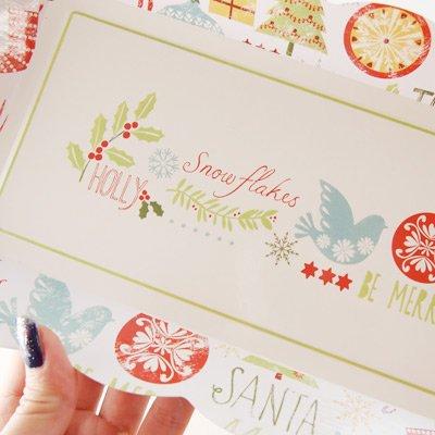 画像2: 紙皿(スクエア)Be Merry クリスマス 4枚入