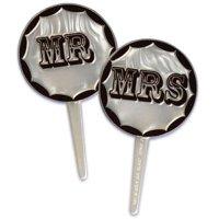 ケーキピック/MR. & MRS.(5本入)