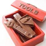 画像2: 〒 CK チョコレート型BOX/大工道具(工具セット) (2)