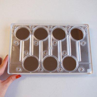 画像1: ポリカーボネート製  チョコレート型(マグネット)ロリポップ