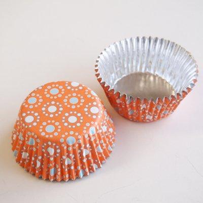 画像1: FoxRun ベーキングカップ  (ホイル/ケース入)モロッコオレンジ 24枚