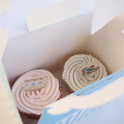 画像3: ケーキボックス(4枚入)ブルー