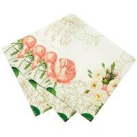 Talking Tables(トーキングテーブル)紙ナプキン(25cm)ホワイトローズ