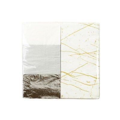 画像1: 〒 紙ナプキン(33cm)メタリック