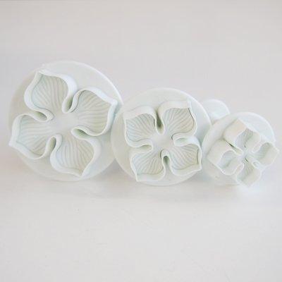 画像3: 〒 FoxRun 抜き型(プッシュ式)4枚の花びら3pcセット