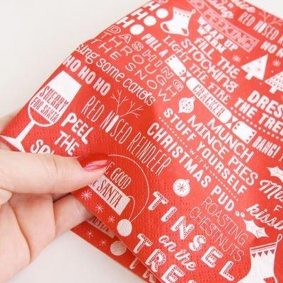 画像2: 〒 紙ナプキン(40cm)クリスマス