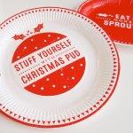 画像2: 紙皿(23cm)HO HO HO クリスマス (2)