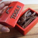 画像6: 〒 CK チョコレート型BOX/大工道具(工具セット) (6)