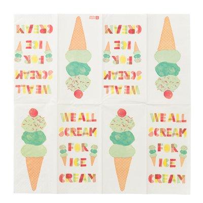 画像1: 〒 紙ナプキン(33cm)アイスクリーム