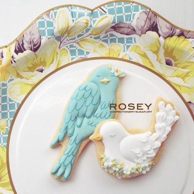 画像1: 〒 クッキー型(ROSEY)小鳥セット【ステンレス】