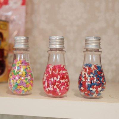 画像1: ミニ・電球ボトル(3個セット)フタ付き/プラ製