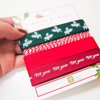 画像3: 〒 リボンセット/ボタニカルクリスマス