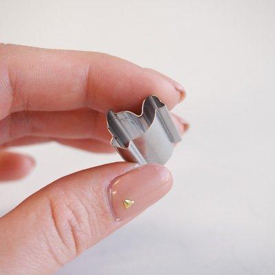 画像2: 〒 抜き型(超ミニ)ダブルカッター(Stadter)ガチョウ 1.5cm【ステンレス】