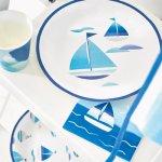 画像5: 紙皿(23cm)コーストブルー/ヨット3種 (5)