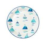 画像2: 紙皿(23cm)コーストブルー/ヨット3種 (2)