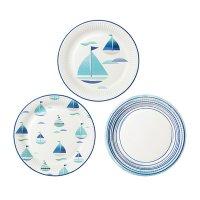 Talking Tables(トーキングテーブル)紙皿(23cm)コーストブルー/ヨット3種