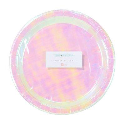 画像1: 紙皿(23cm)パステル(オーロラカラー)