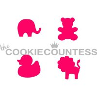 The Cookie Countess(クッキーカウンテス)ステンシル/ベビーアニマル(4種)