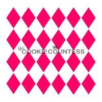 The Cookie Countess(クッキーカウンテス)ステンシル/ハーリキン・チェック(ダイヤ型)