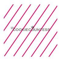 The Cookie Countess(クッキーカウンテス)ステンシル/シンプル斜めストライプ