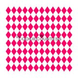 The Cookie Countess(クッキーカウンテス)ステンシル/ミニ★ハーリキン・チェック(ダイヤ型)