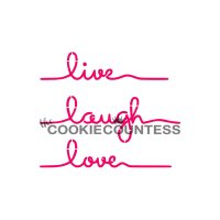 The Cookie Countess(クッキーカウンテス)ステンシル/Live Laugh Love・メッセージ