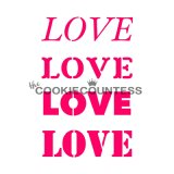 The Cookie Countess(クッキーカウンテス)ステンシル/LOVE文字(4種類)