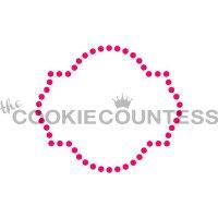 The Cookie Countess(クッキー・カウンテス)ステンシル/デコレーションフレーム(ドット)