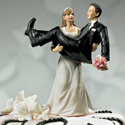 画像1: ウエディングケーキトッパー/力持ちな花嫁