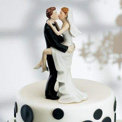 画像3: ウエディングケーキトッパー/ラブラブ抱きつき花嫁