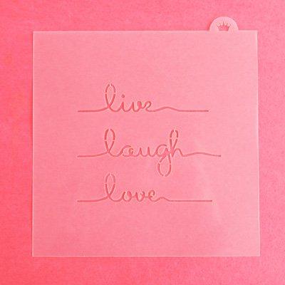 画像1: 〒 CC ステンシル/Live Laugh Love・メッセージ