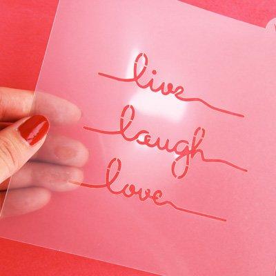 画像2: 〒 CC ステンシル/Live Laugh Love・メッセージ