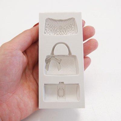 画像1: 〒 シリコン型/デザインバッグ