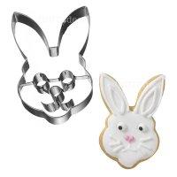 BIRKMANN クッキー型/パーツ付き ウサギ顔(ステンレス)
