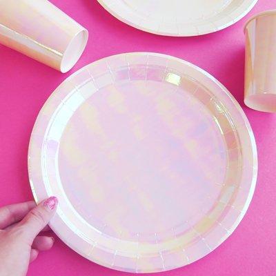 画像2: 紙皿(23cm)パステル(オーロラカラー)